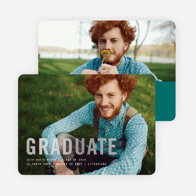 Simply Foil Graduation Announcements - Green