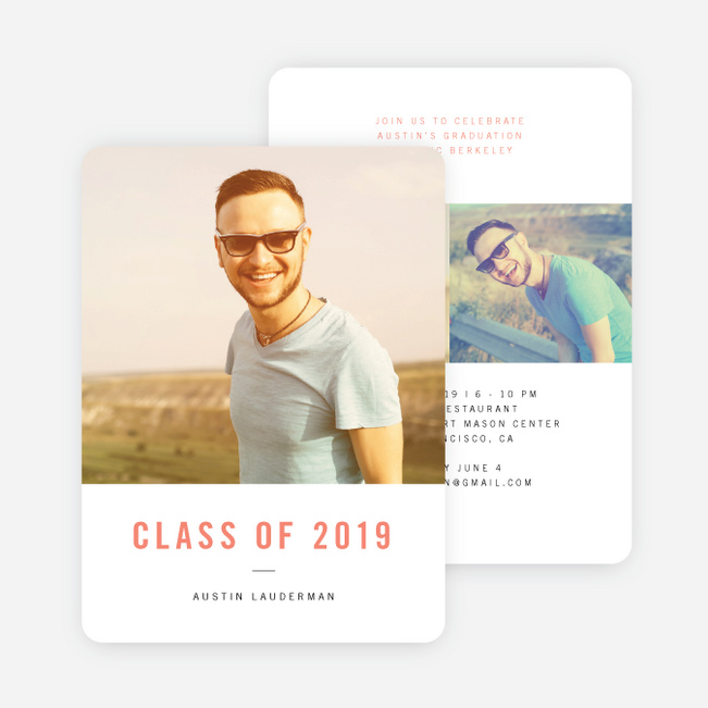 Simple and Classic Graduation Cards - Pink