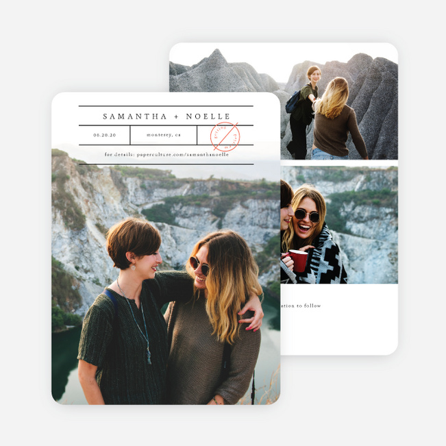 Simple Words Save the Date Cards - Black