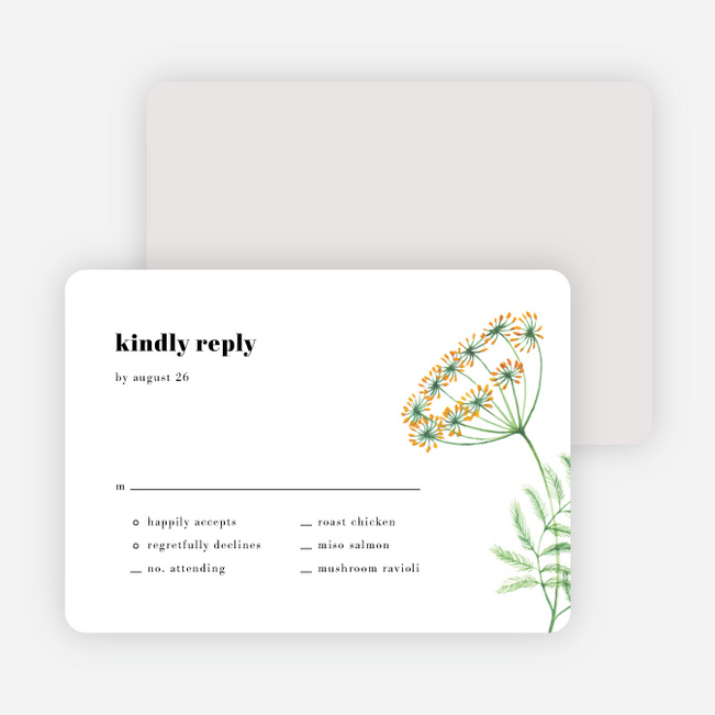 Wine Country Wedding Response Cards - White