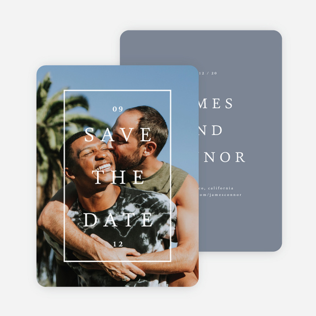 Our Story Save the Date Cards - Blue