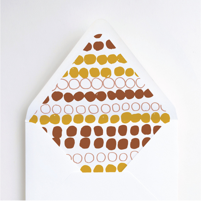 Natural Shapes Wedding Liners - Yellow