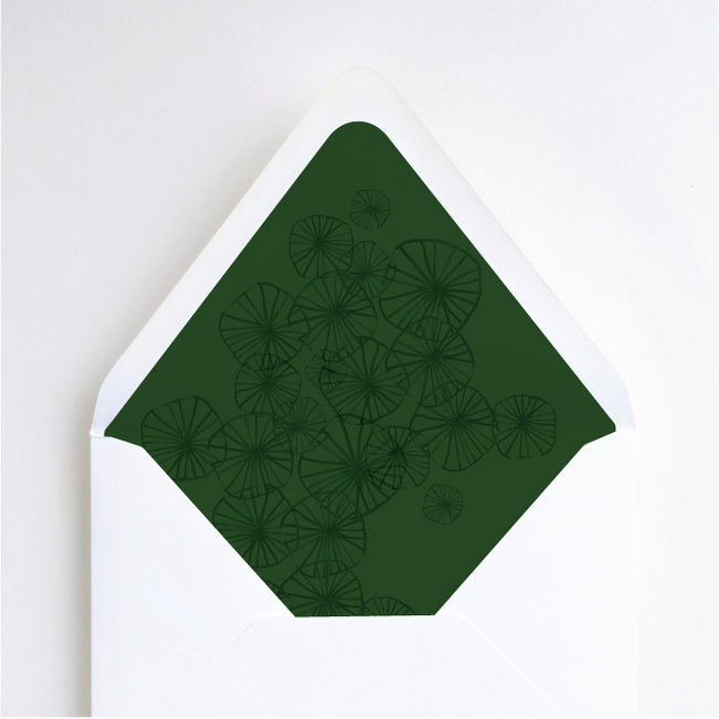 Organic Circles Wedding Liners - Green