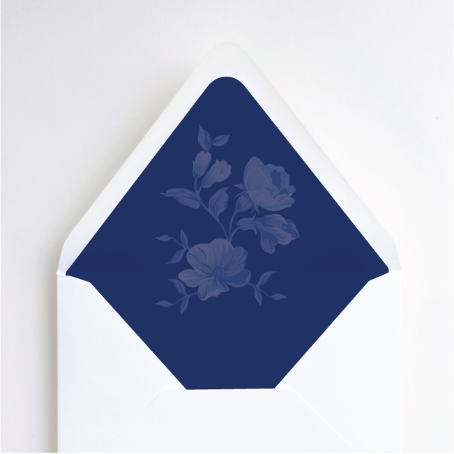 Rosy Outlook Wedding Liners - Blue