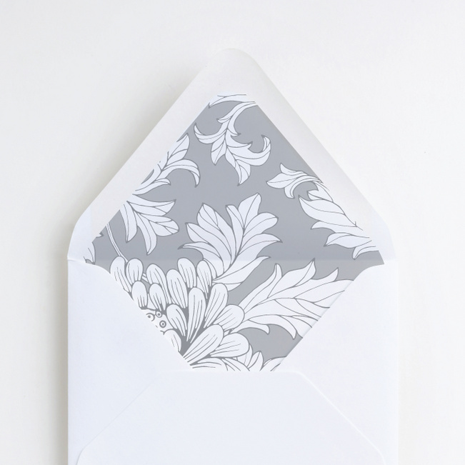 Vintage Florals Wedding Liners - Gray