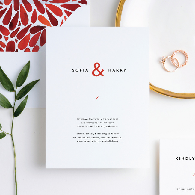 Burst of Romance Wedding Invitation Suites - Red