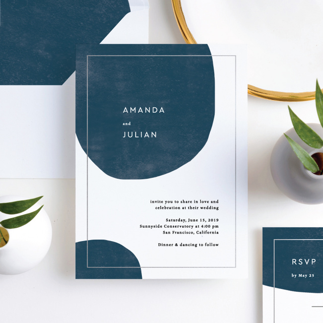Contemporary Love Wedding Invitation Suites - Gray