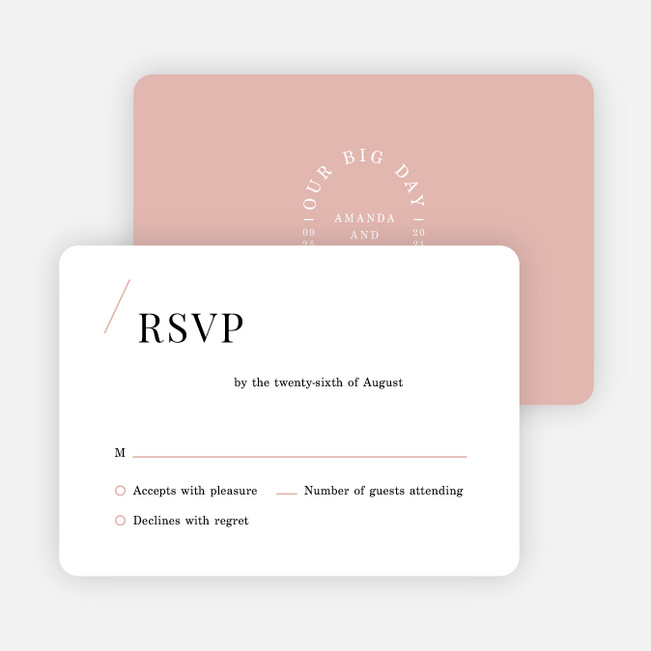 Floral Simplicity Wedding Invitation Suites - Pink