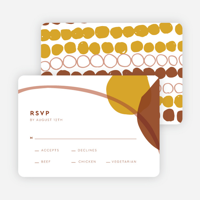 Natural Shapes Wedding Invitation Suites - Yellow