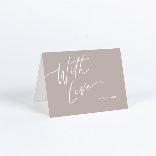 Relaxed Script Wedding Invitations - Brown