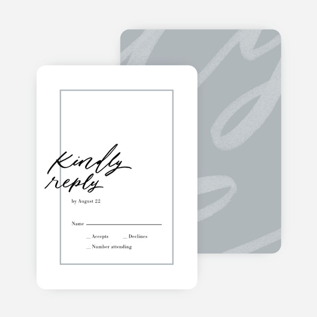 Signature Style Wedding Invitations - Gray