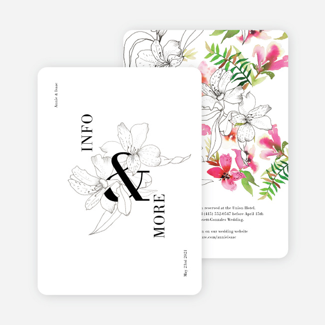 Sophisticated Lilies Wedding Invitation Suites - Multi