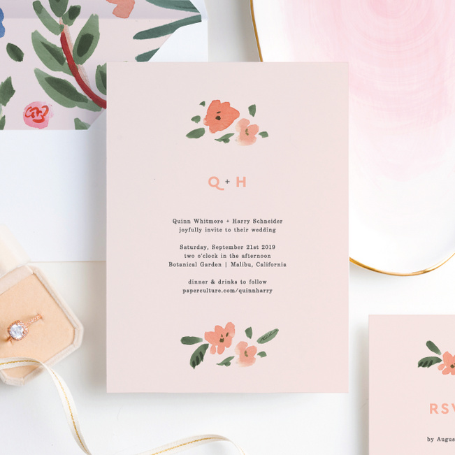 Southwest Vibes Wedding Invitation Suites - Pink