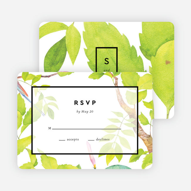 Tropical Aviary Wedding Invitations - Multi