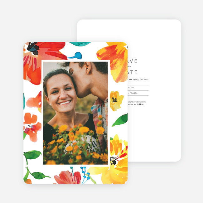 Tropical Celebration Wedding Invitations - Multi