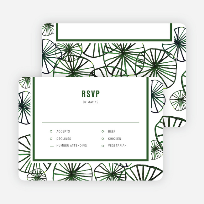 Organic Circles Wedding Invitations - Green