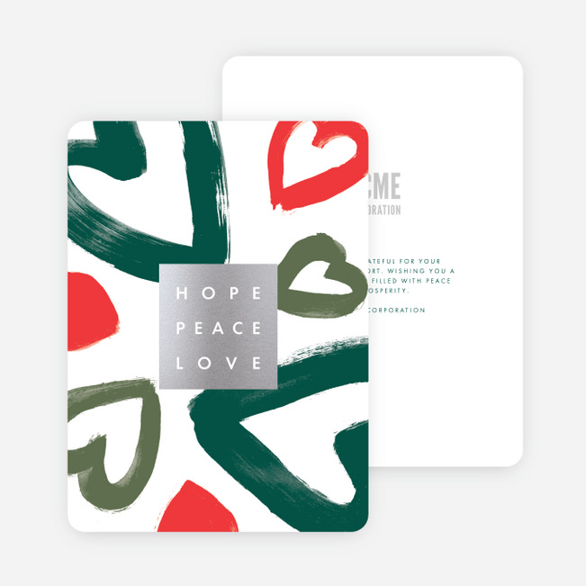 Foil Love Abound Holiday Cards - Multi