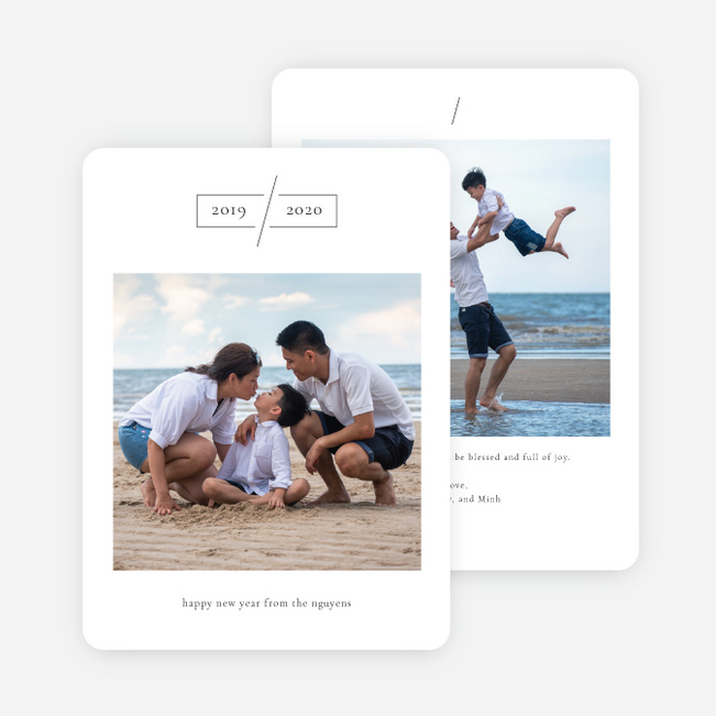 Minimal Moment Holiday Cards - White