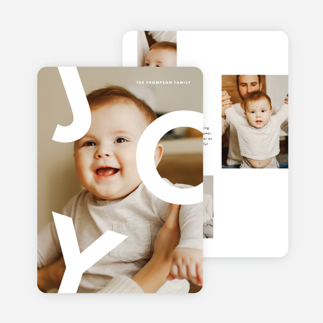 Joy Jumble Holiday Cards - White