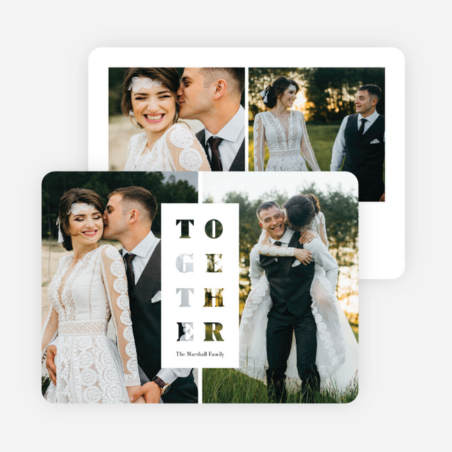 Together Cutout Holiday Cards - White