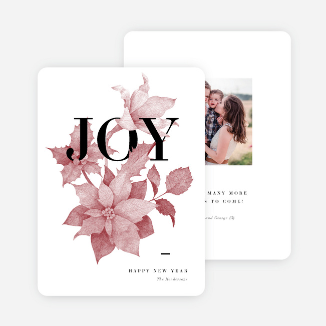 Overgrowing Joy Holiday Cards - Red
