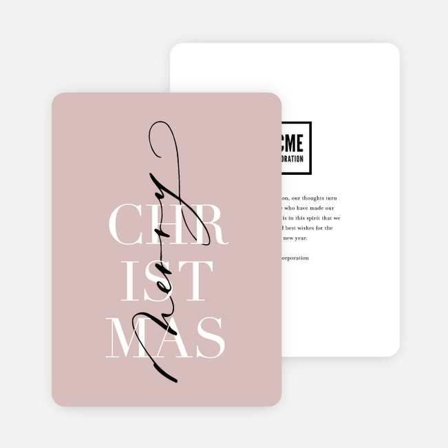 Wrapped Up Christmas Cards - Pink