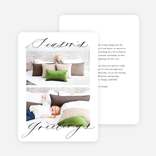 Classic Look Holiday Cards - White