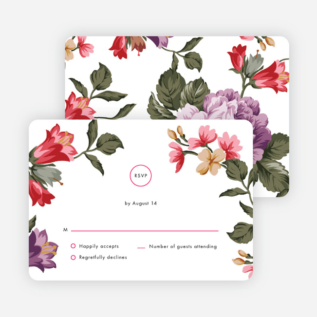 Enchanting Blooms Wedding Invitation Suites - Multi