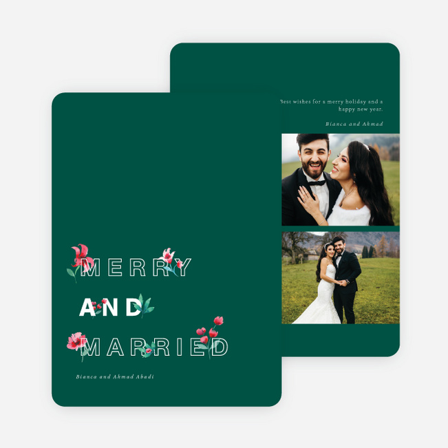 Merry Garden Holiday Cards - Green