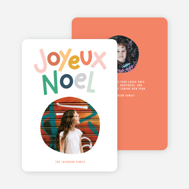 Joyeux Noel Christmas Cards - Multi