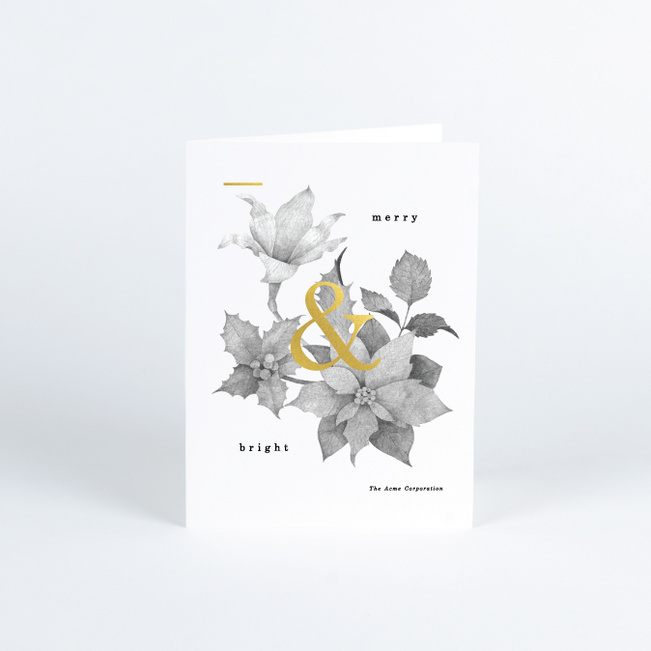 Minimal Greetings Corporate Holiday Cards - Yellow