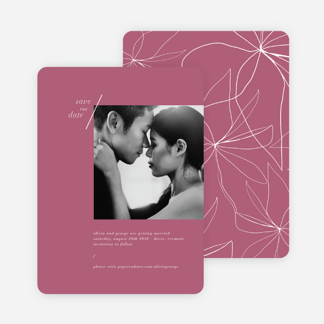 Delicate Details Wedding Invitations - Pink