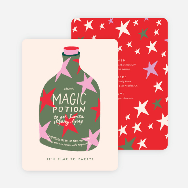 Magical Potion Holiday Invitations - Multi