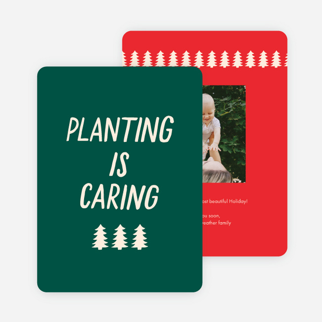 Planting is Caring Holiday Cards - Multi