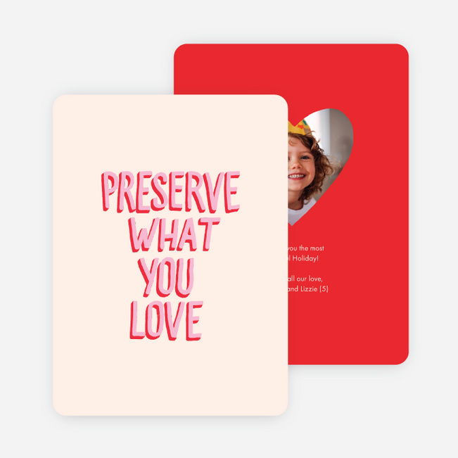 Heartfelt Message Holiday Cards - Red