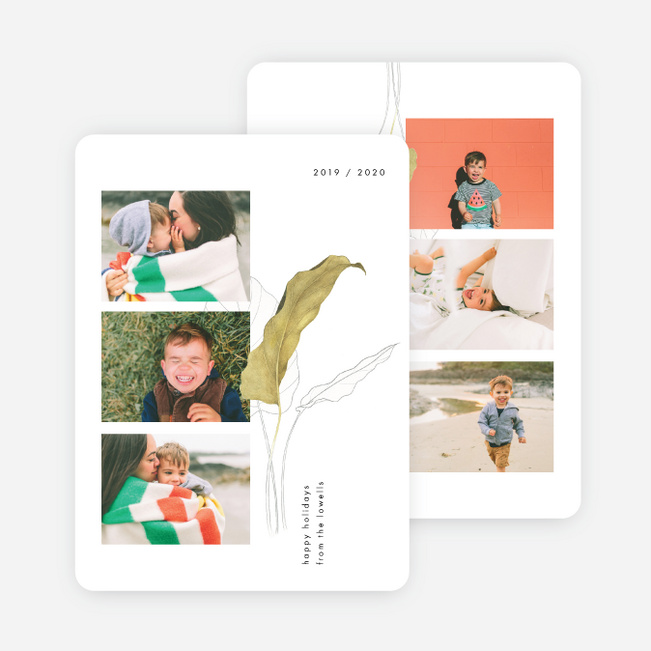 Spring Into Season Holiday Cards - White