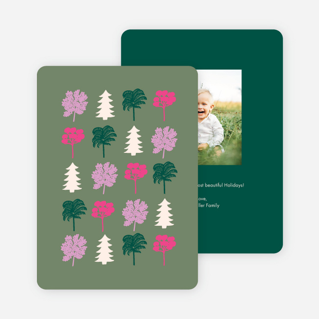 Little Forest Business Holiday Cards - Green