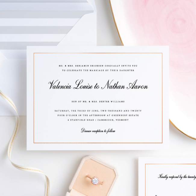Classic Style Wedding Invitation Suites - Pink