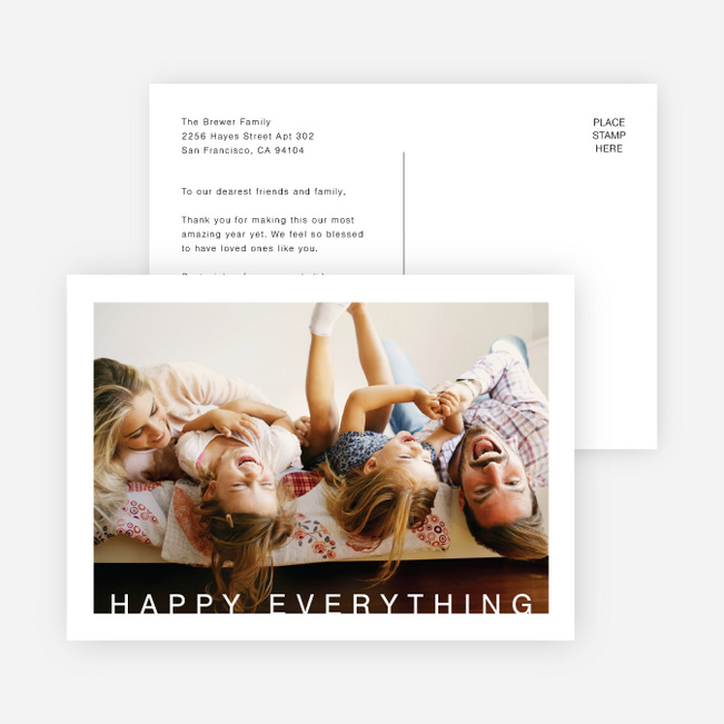 Happy Everything Cards - White
