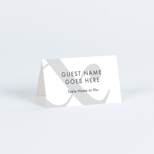 Always Together Wedding Name Cards & Place Cards - Gray