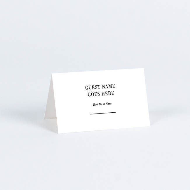 Editorial Inspired Wedding Name Cards & Place Cards - Black