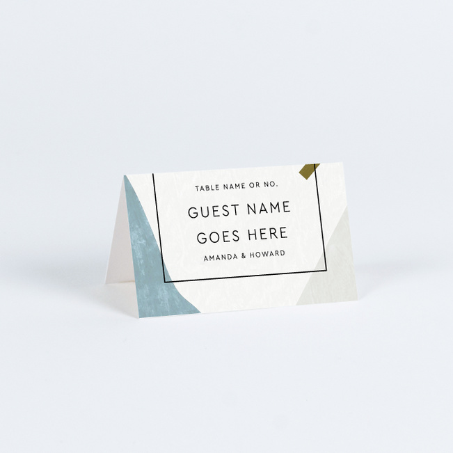 Moving Shapes Wedding Name Cards & Place Cards - Multi