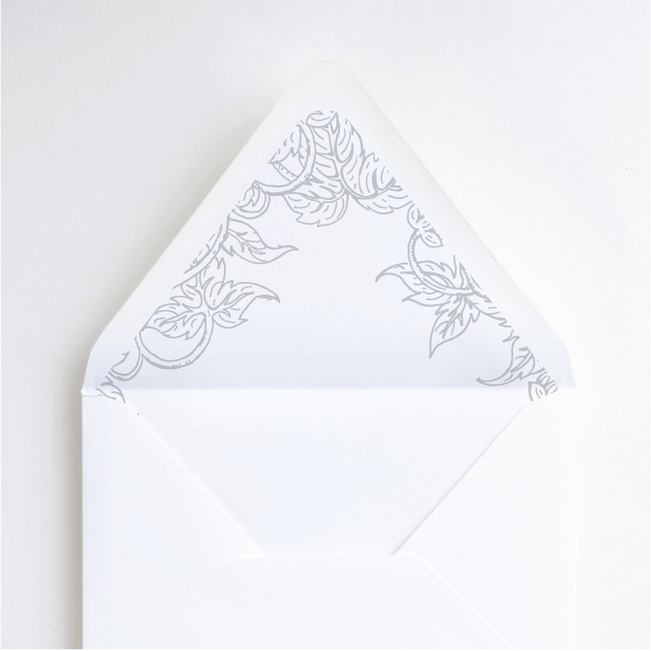 Foil Rustic Charm Envelope Liners - Gray