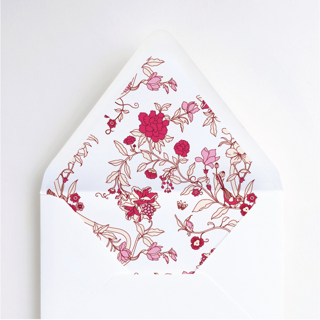 Summer of Love Envelope Liners - Pink