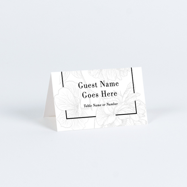 Vintage Inspired Wedding Name Cards & Place Cards - White