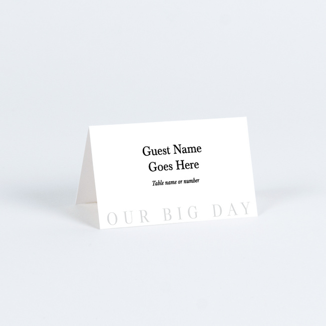 Love So Big Wedding Name Cards & Place Cards - White