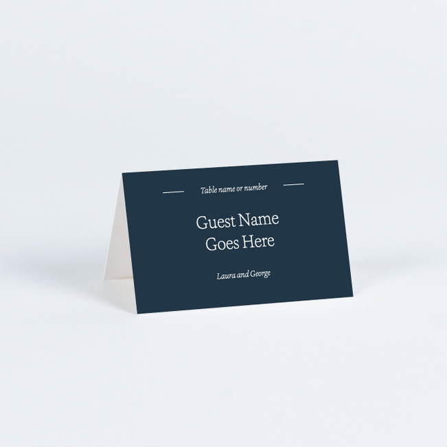 Story Beginnings Wedding Name Cards & Place Cards - Blue