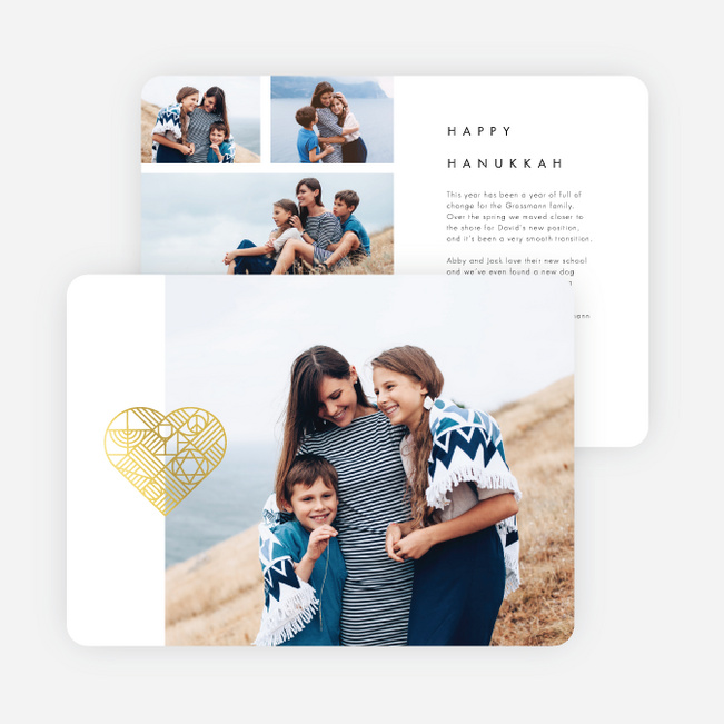 Foil Beautiful Icon Holiday Cards - Yellow