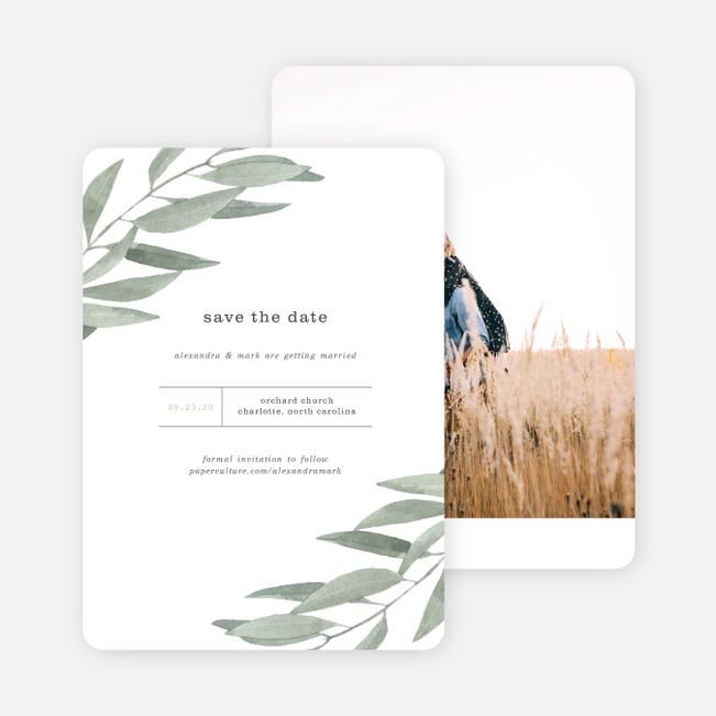 Olive You Save the Date Cards - Green
