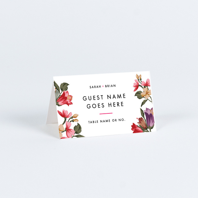 Enchanting Blooms Wedding Name Cards & Place Cards - Multi